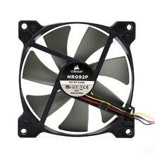 Caja de ventilador para CPU Np092p, 9215cm, 92mm, CC, 12V, 4 cables, Control de temperatura PWM, Control inteligente de velocidad