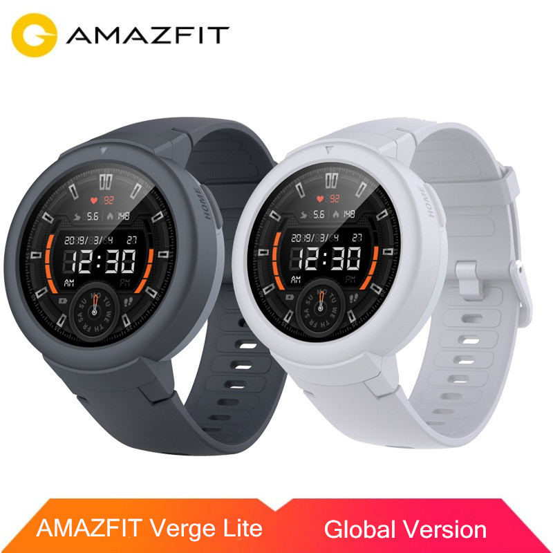 Original <font><b>AMAZFIT</b></font> Verge <font><b>Lite</b></font> Smart Watch AMOLED Screen Bluetooth 5.0 IP68 Waterproof 20 Days Battery Life for iOS Android image