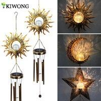 Windspiele Solar Lichter Im Freien Wasserdichte Hängen Äolischen glocken Solar Lampe Mit Mond Sterne Sonne Form Für Party Garten Festival