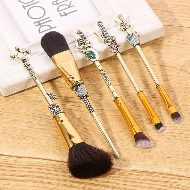 2020 Japan Anime Attack on Titan Makeup Brushes Set Professional Cosmetic Powder Eye Shadow Eyebrow Beauty Make Up Brush Tool 5