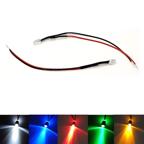10Pcs Twinkle Flash 2V 3V 5V 6V 9V 12V Clear 3mm Flashing LED With 20cm Red&Black Wire Light=White Red Blue Green Yellow
