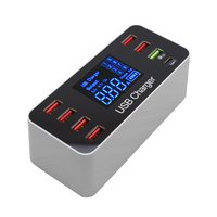 Universal LED Portable 8 Ports USB Quick Charge USB  fast Charger Hub Multi Port Rapid AdapterFor Android iPhone Adapter Phone|Mobile Phone Chargers| |  -