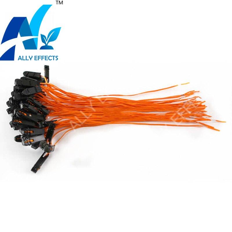 50pcs/lot 30cm Orange Color Talon Ignition Wire For Cold Fountain
