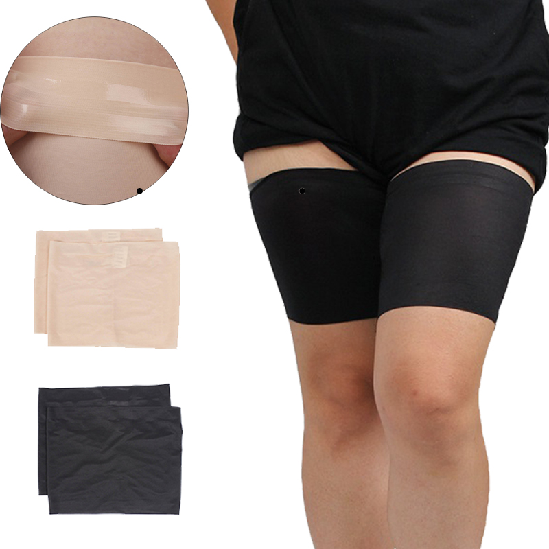 1 Pair Anti Chafing Thigh Band Women High Elastic Silica Gel Anti-friction Protection Thigh Bands Leg Warmers Women Been Warmers