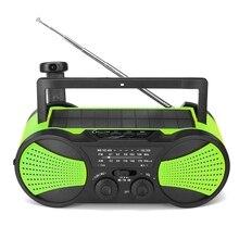 Nk Солнечный радио кривошипный аварийный внешний аккумулятор ручной кривошипный само мощность ed AM/FM погода портативный радио с светильник 2000MAh