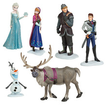 6pcs/set Queen Elsa Princess Anna Hans Kristoff Sven Olaf PVC Action Figures Toys Classic