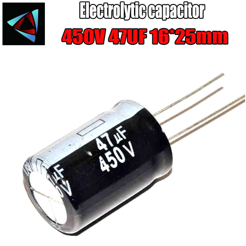 2PCS Higt Quality 450V 47UF 16-25mm 47UF 450V 16*25 Electrolytic Capacitor