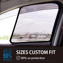 2PCS Magnetic Car Front Side Window SunShades Mesh Cover For Toyota Vois Reiz HIACE SIENTA PICNIC  car window curtains