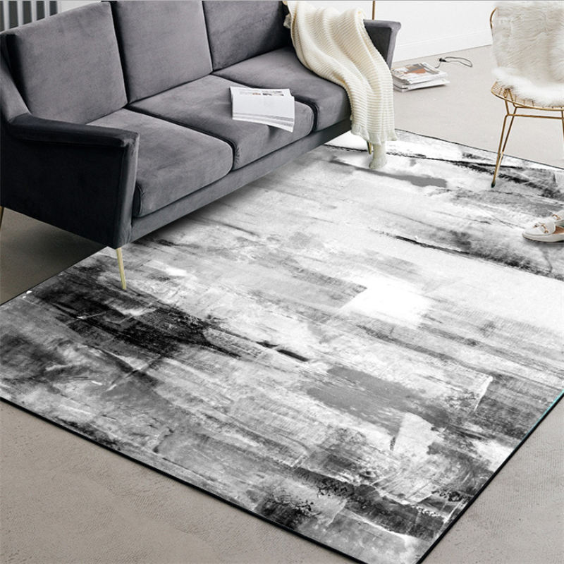 Carpets For Living Room Chinese Style Abstract Black And White Ink Pattern Carpet Living Room Table Accessories Christmas Rug
