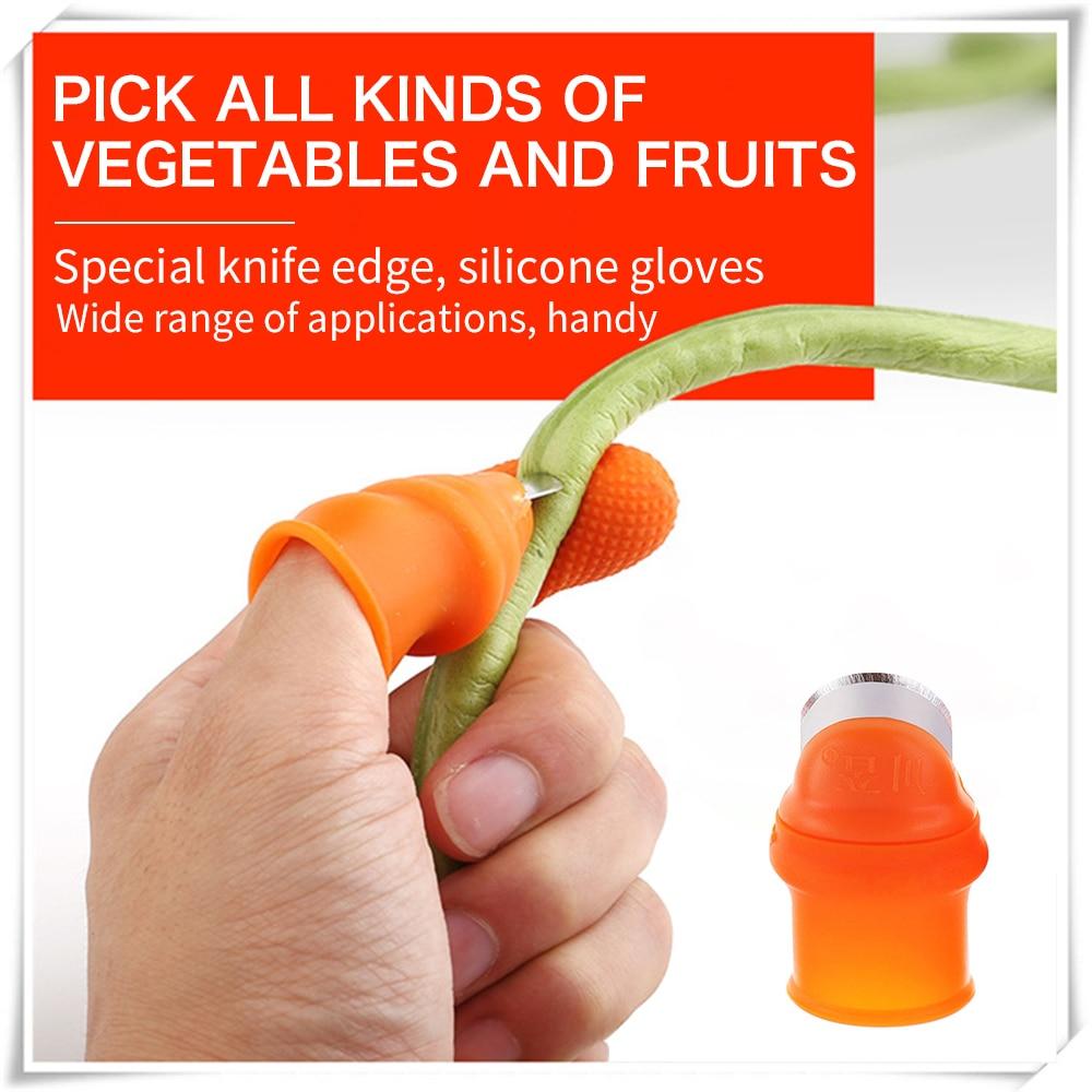 De silicona pulgar cuchillo dedo Protector de vegetales de cuchillo de hoja tijeras de corte de anillos guantes de jardín Dropshipping. Exclusivo.|Protectores de dedo|   - AliExpress