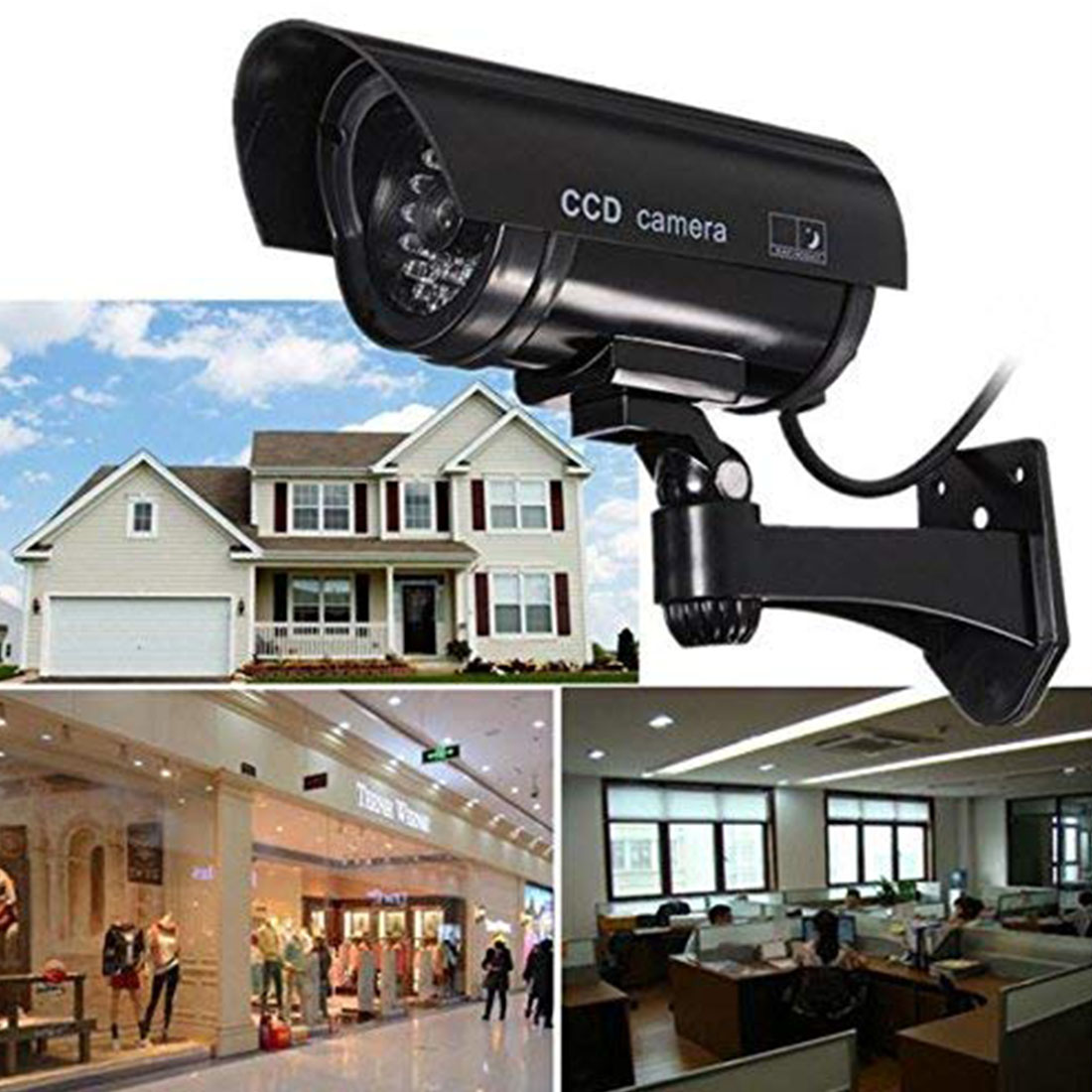 Dummy Fake 4CS Camera Bullet Waterproof Outdoor Indoor Security CCTV Surveillance Camera Flashing Red LED  Free Shipping