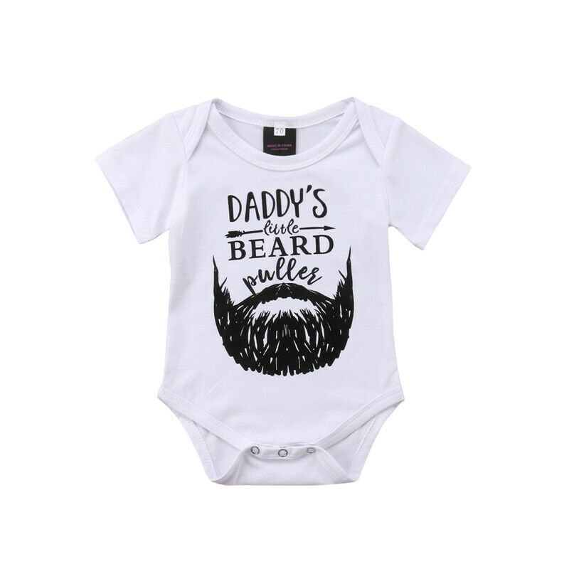 Pudcoco Baby Boy Girl Newborn Baby Bodysuit Clothes Short Sleeve Printed Casual Fashion 0-18M