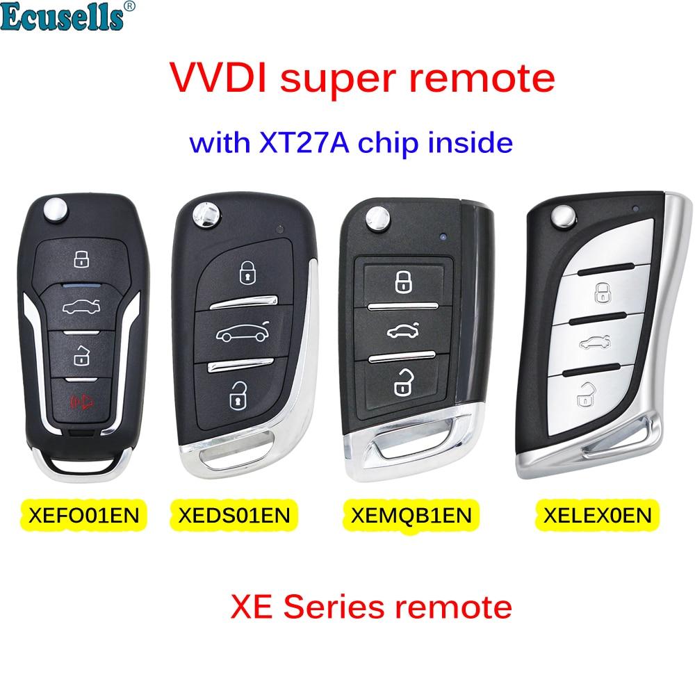 Xhorse XEDS01EN/XEFO01EN/XEMQB1EN/XELEX0EN XE series VVDI Super Remote с чипом XT27A для VVDI2/VVDI Key Tool Max mini Key tool