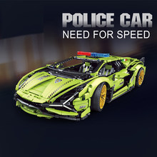 2021 MOC 3962pcs Building Blocks Lamborghini sian Bricks Technical Car Toys Super Racing Vehicle Model Gift For Boyfriend