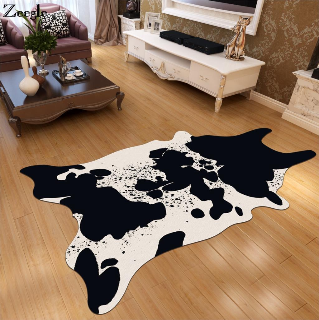 Zeegle simulé peau d'animal imprimé salon tapis anti-dérapant canapé chaise tapis de sol chambre tapis chevet tapis enfants tapis