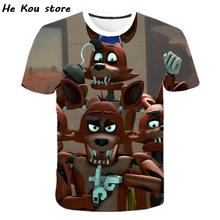 Chucky Boys Fnaf avatar 3D gra T Shirt nowe dzieci pięć nocy u freddy #8217 ego topy Anime chłopiec dziewczyna dzieci FNAF t-shirt eboy tanie tanio Poliester spandex CN (pochodzenie) Nowość Krótki Cartoon REGULAR Pasuje prawda na wymiar weź swój normalny rozmiar