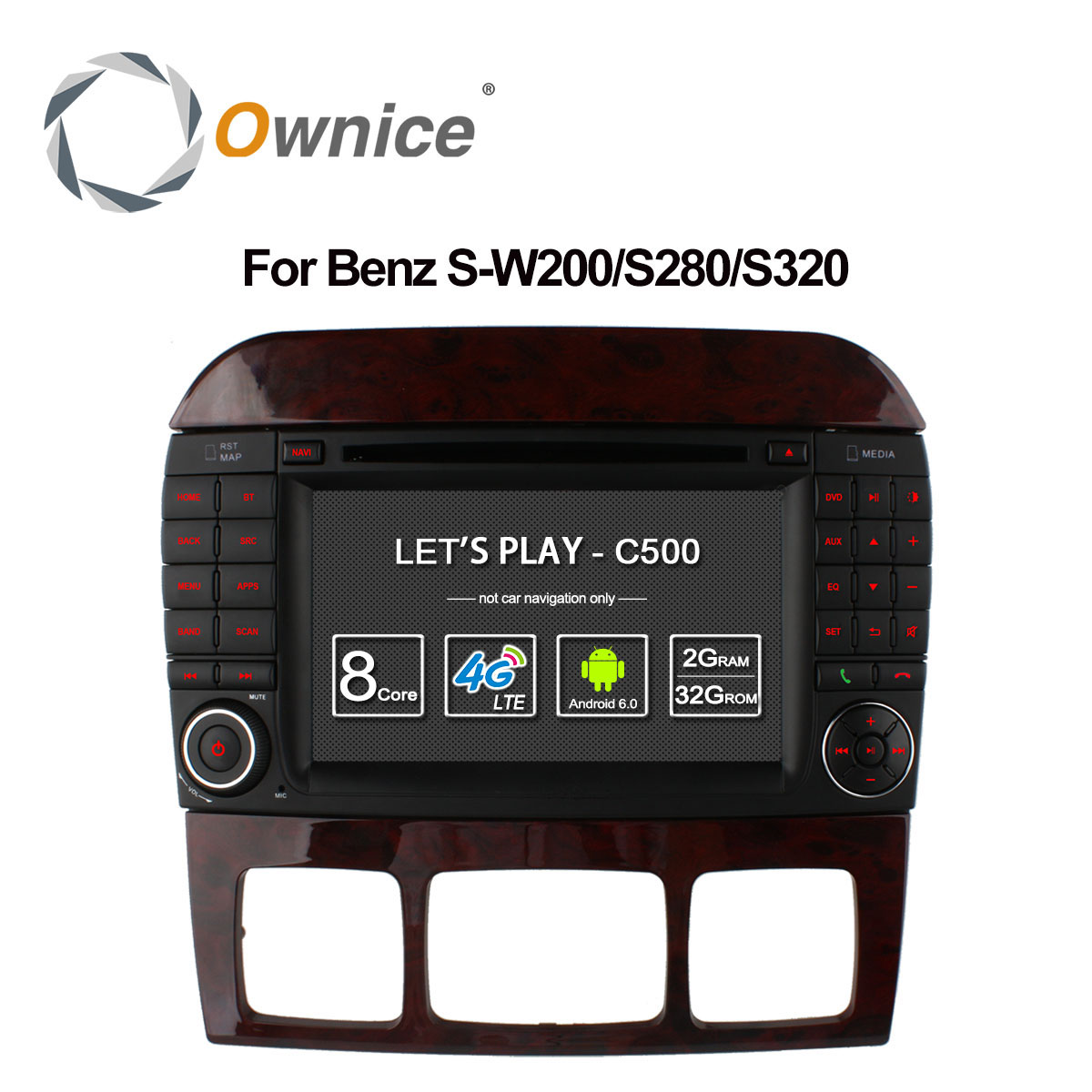 Ownice C500 8 Core Android 6.0 Car DVD Player <font><b>for</b></font> <font><b>Mercedes</b></font> S Class S500 <font><b>S600</b></font> S280 S320 S350 S400 S420 S430 W220 Radio 4G <font><b>GPS</b></font> image