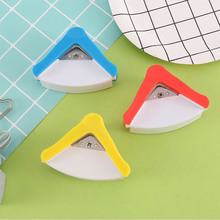 R5 Paper Cutter R5mm Rounder Paper Puncher Photo Punch Round Corner Trim Cutter Tool Office Stationery Manual Yellow Blue