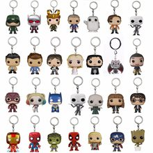 Funko pop harrii Action figure Hermione Portachiavi Potter Giocattolo Jon Snow Daenerys Targaryen Giocattoli Deadpool DC Flash Batman Regali(China)