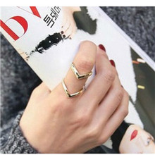 Fashion Gold Adjustable Opening Rings For Women Silver Wedding Rings Double-deck Ring Women Engagement Ring Jewellery Lady Gifts(China)