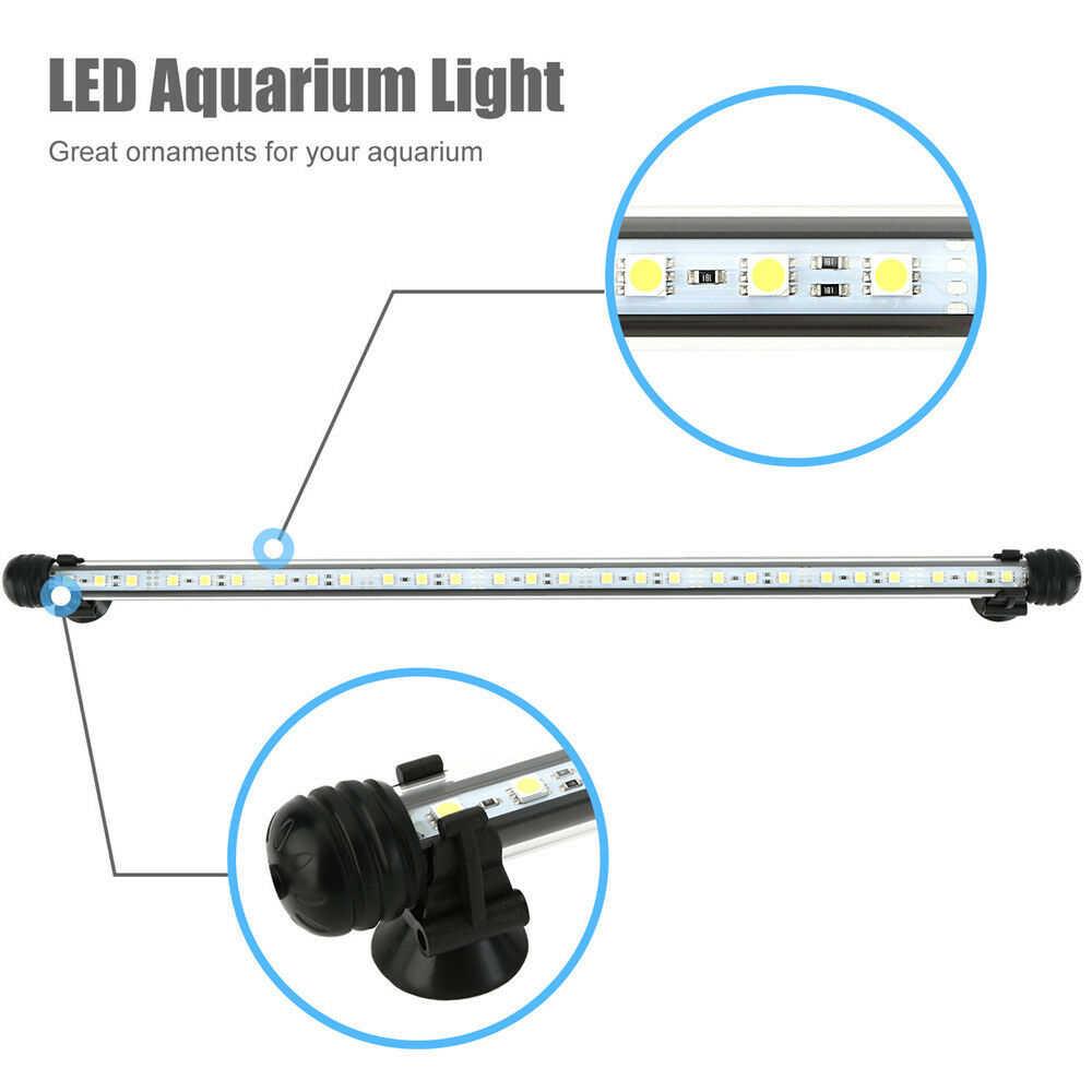ใหม่ LED Aquarium ไฟถังปลา 19/29/39/49 ซม.ใต้น้ำโคมไฟ aquatic Decor โคมไฟ