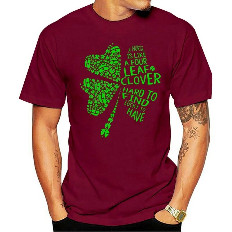 2021 moda lazer 100% algodão o-pescoço camiseta uma forma de como um trevo de quatro folhas difficicil encontrar tipo de ter