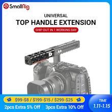 Smallrig dslr câmera gaiola lidar com alça superior extensão reta com 1/4 furos de rosca e arri localização buracos htr2297