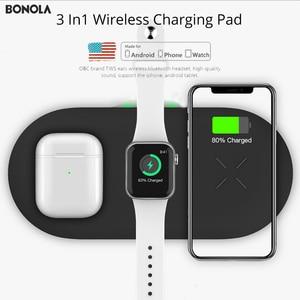 Image 2 - Bonola 3 In1 Wireless Charging PadสำหรับiPhone 11Pro/11/XAR/XsMaxแท่นชาร์จสำหรับApple Watch 5 Wireless ChargerสำหรับAirPods Pro