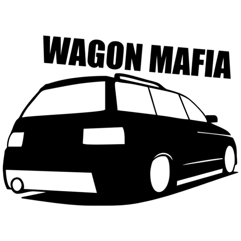 CK2759# наклейки на авто ВАЗ 2111 WAGON MAFIA водонепроницаемые наклейки на машину наклейка для авто автонаклейка стикер этикеты винила наклейки стай...