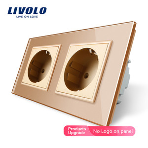 Image 4 - Livolo EU มาตรฐานไฟฟ้าคู่ซ็อกเก็ตกำลังไฟผนัง,4 สีแผงคริสตัลแก้วคริสตัล,16A 2 PIN Outlet, ปลั๊ก SOCKET