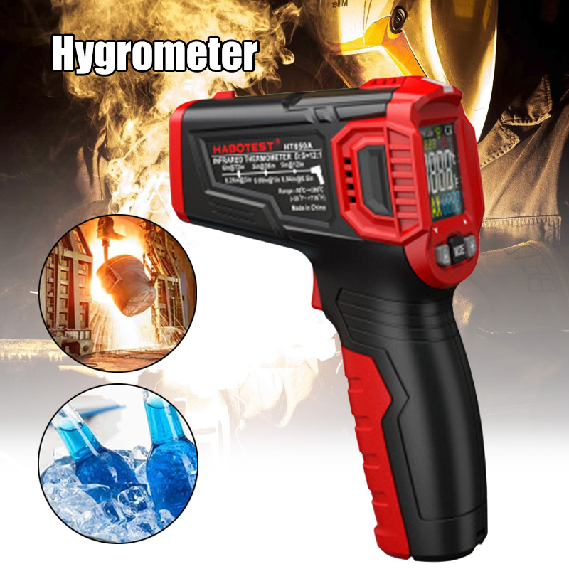 Infrared Thermometer LCD Display No-contact Digital Thermometers For Indoor Outdoor Home Cooking HT650A FKU66