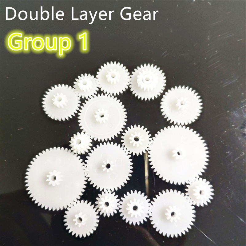 31 Kinds Of M0.5 Plastic Teeth Double Layer Gears Reduction Gear Group 1 Deck DIY Toy Car Robot Helicopter Parts Dropshipping