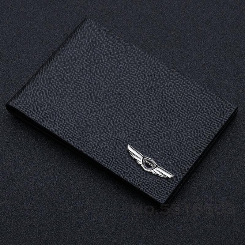 Кожаный Прозрачный чехол для карт и водительских прав с зажимом для фотографий для Genesis Coupe G80 G70 GV80 BH GH защитный чехол для водительских докум...
