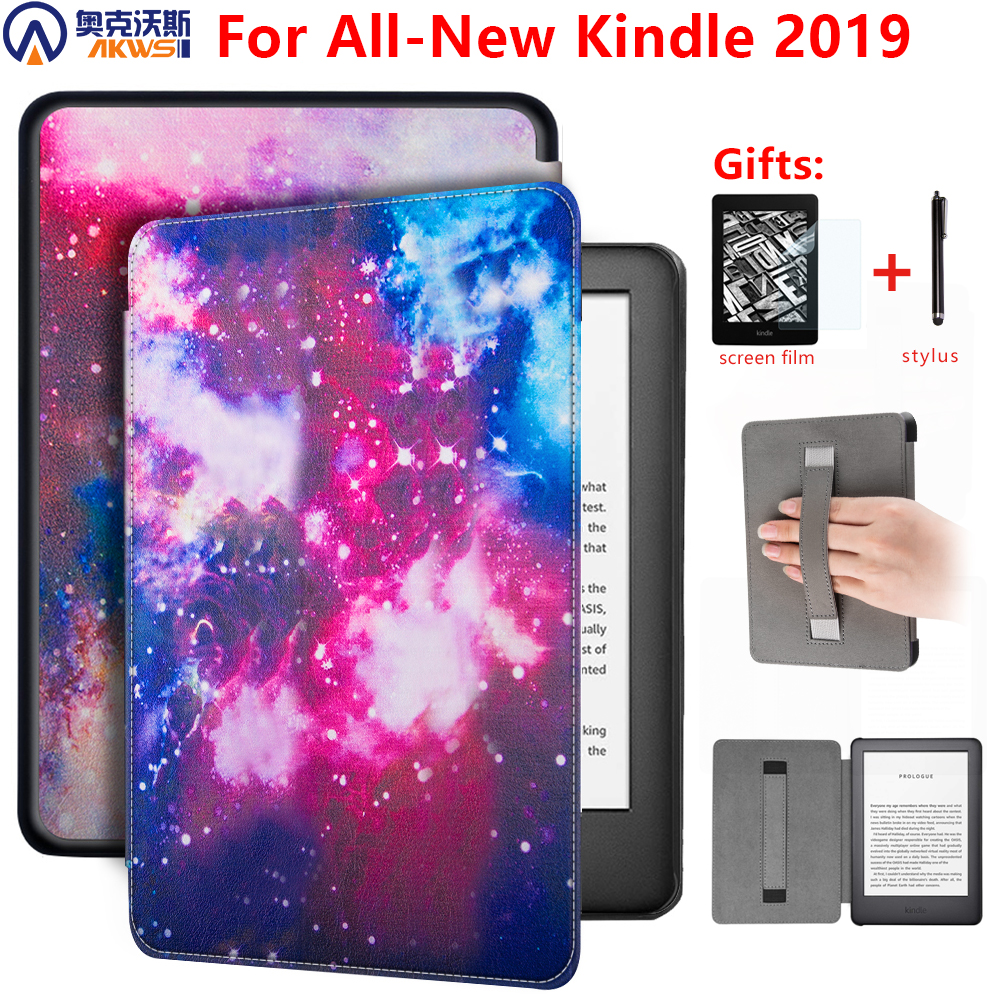 Magnetic Cover Case For Amazon New Kindle 10th Generation 2019 6inch E-reader Cover For Kindle 2019 Case With Hand Holder+gift