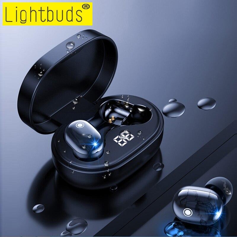 Беспроводные Bluetooth-наушники LightBuds A6S Plus TWS, водонепроницаемые мини-наушники для Xiaomi Redmi, стереонаушники для всех смартфонов