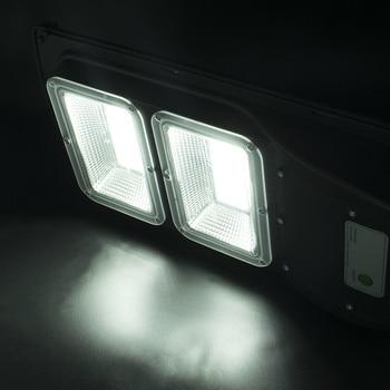 Newest 60W 120 LED 2835SMD Solar Sensor Outdoor Light with Light Control and Radar Sensor Black 1