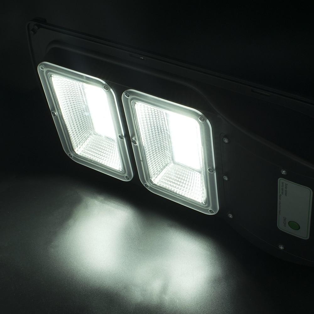 Новые 60 Вт 120 светодиодный 2835SMD Солнечный Сенсор напольный светильник с светильник Управление и радар Сенсор черный