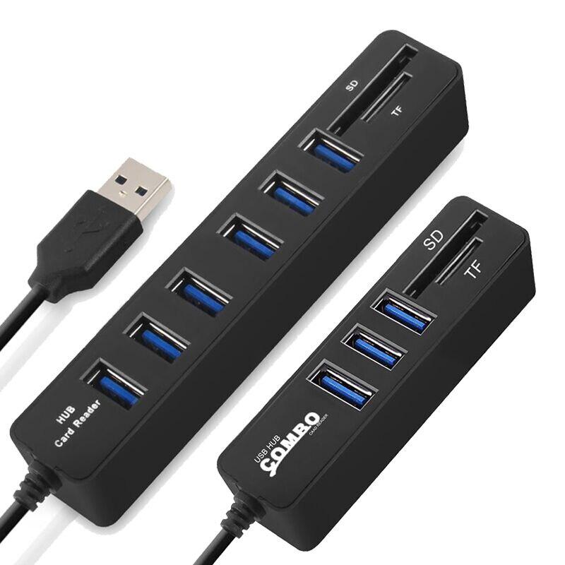 USB HUB 3.0 Multi USB Splitter 3.0 USB Hab SD TF Card Reader Multiple USB HUB for Computer Laptop