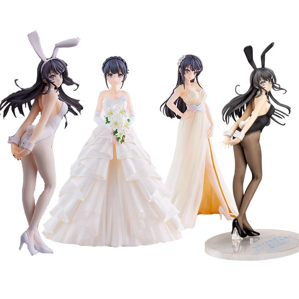 Сексуальная аниме Rascal не мечтает о девочке-зайце Senpai Sakurajima Mai Makinohara Shoko, сексуальная девушка, аниме-фигурка, модель игрушек