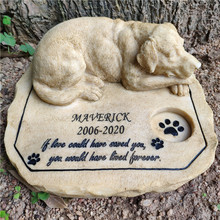 Stones Dog-Memorial-Stones with Dog-On-The-Top JSYS Personalized