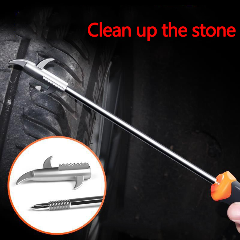 Car Tire Clear Stone Hook Tire Cleaning Stone Hook Multi function Screwdriver To Remove The Stone Clear Stone Hook Tool in Tire Accessories from Automobiles Motorcycles