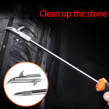 Car Tire Clear Stone Hook Tire Cleaning Stone Hook Multi-function Screwdriver To Remove The Stone Clear Stone Hook Tool 1pc quartz stone countertops seam tools vacuum adsorption splicer stone adjustment double suction cup multi function hand tool