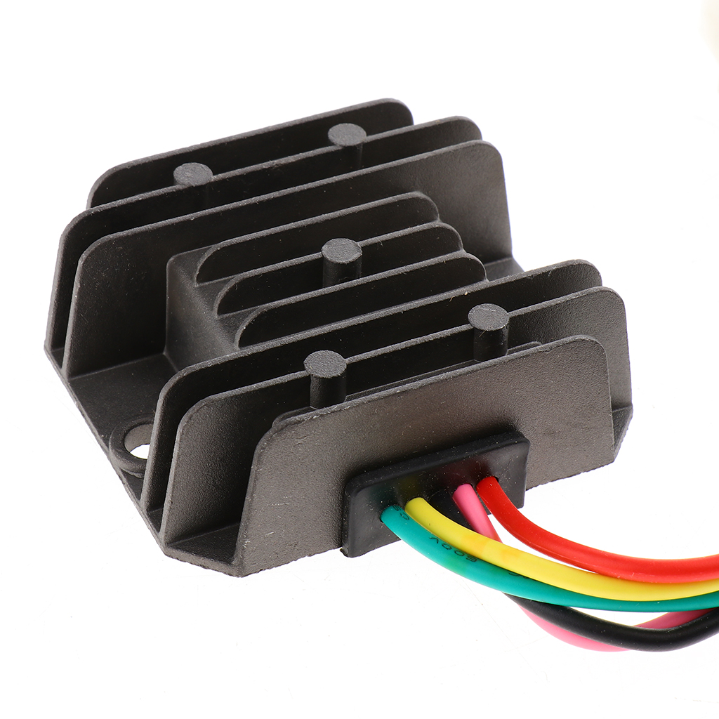 5 Pins Wired Motorcycle Rectifier Voltage Regulator 4A 35W For FXD 125