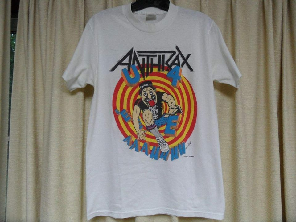 Anthrax Euphoria Group Sketch S M L XL XXL Officl T-Shirt Metal Band Tshirt New