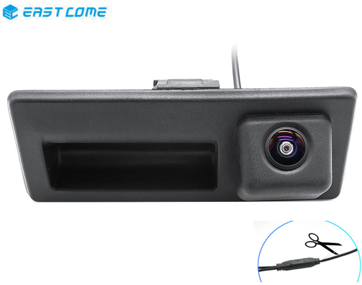 Reverse <font><b>Camera</b></font> 1080P Trunk Handle Car Rear View For Volkswagen Passat Caddy MK3 Golf Poal Golf plus <font><b>Audi</b></font> A4 <font><b>A6</b></font> Car <font><b>Camera</b></font> image