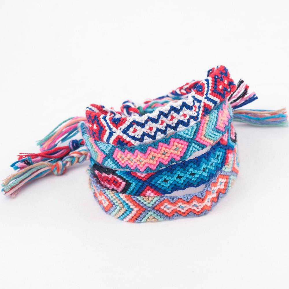New Boho Ethnic Handmade Multicolor String Cord Woven Braided Friendship Bracelet Bracciali Ragazza Pulseras Con Ojo Turco
