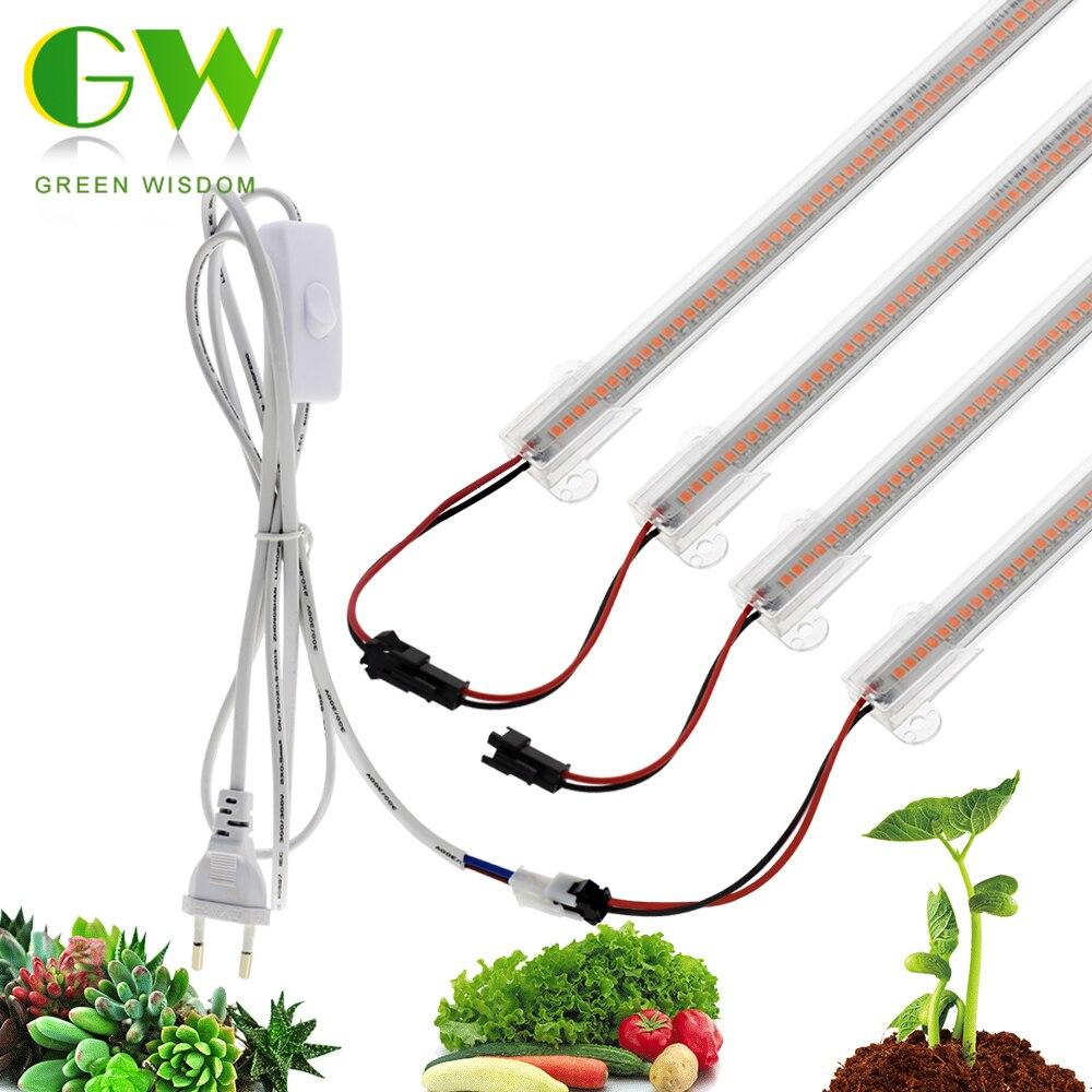 220V LED crece la luz de espectro completo de barras LED Lámparas de plantas de alta eficiencia luminosa Phytolamp de flores Invernaderos crece la tienda