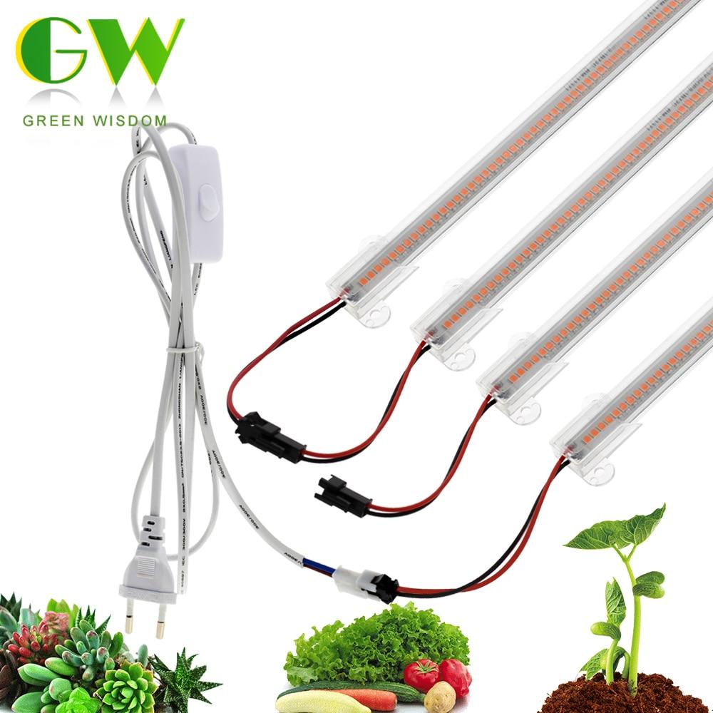 LED Grow Light 220V Full Spectrum LED-Bar lampen voor planten Hoge lichtopbrengst Phytolamp voor Bloemen Kassen Kweektent