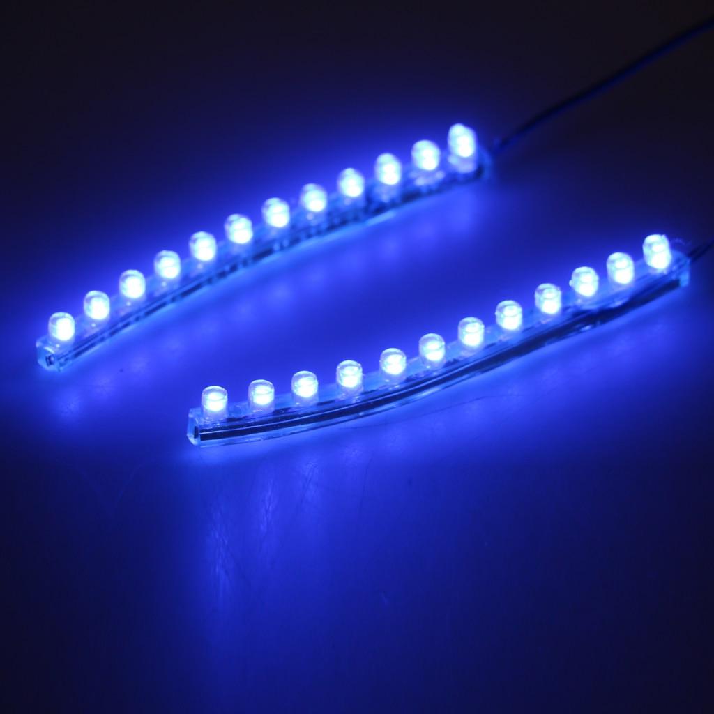 4pcs Green & Blue LED Light Bar For Inline Skate Roller Skate