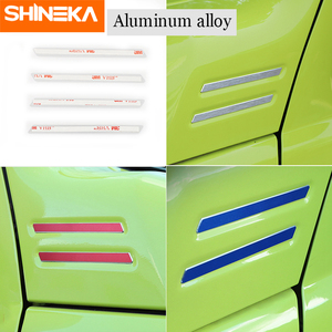 Image 3 - SHINEKA Carbon Fiber Sticker Car A pillar Corner Decorative Cover for Suzuki Jimny 2019 2020 Aluminum Alloy Exterior Accessories